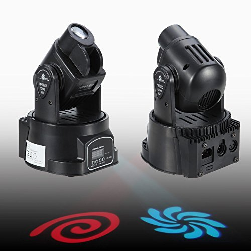 Euroeshop 2pcs Mini Moving Head